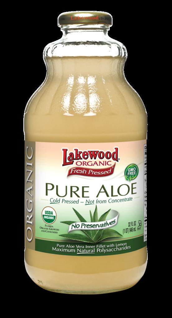 Juice Drink, Lakewood Organic® Organic Pure Aloe Juice (32 oz Bottle)