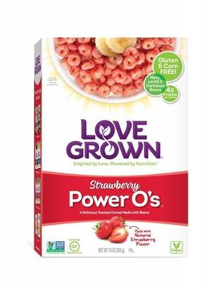 Cereal, Love Grown® Power O's™ Strawberry Cereal (10 oz Box)
