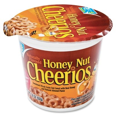 Cereal, General Mills® Cheerios® Honey Nut Cereal (1.8 oz Cup)