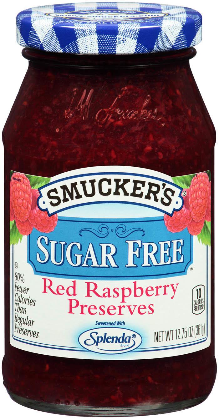 Fruit Spread, Smucker's® Red Raspberry Sugar Free Splenda Perserves (12.75 oz Jar)