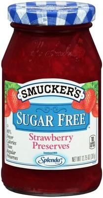 Fruit Spread, Smucker's® Strawberry Sugar Free Splenda Perserves (12.75 oz Jar)