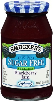 Fruit Spread, Smucker's® Blackberry Sugar Free Splenda Jam (12.75 oz Jar)