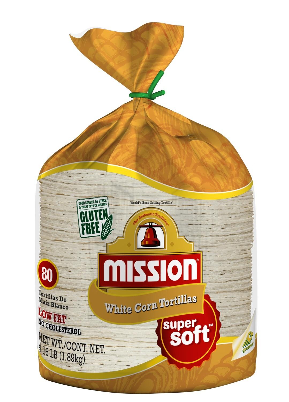 Corn Tortillas, Mission® White Corn Tortillas, Bag of 80