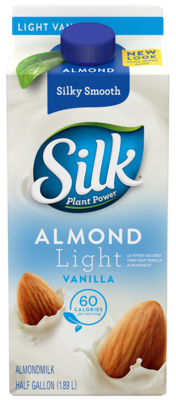 Almond Milk, Silk® Light Vanilla Almond Milk (½ Gallon Carton)