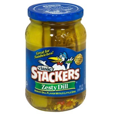 Preserved Pickles, Vlasic® Stackers Zesty Dill Pickles