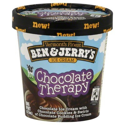 Ice Cream, Ben & Jerry's® Chocolate Therapy Ice Cream (1 Pint, 16 oz Cup)