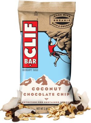 Energy Bars, CLIF® Coconut Chocolate Chip Energy Bar (2.4 oz Bag)