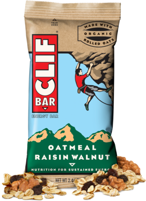 Energy Bars, CLIF® Oatmeal Raisin Walnut Energy Bar (2.4 oz Bag)