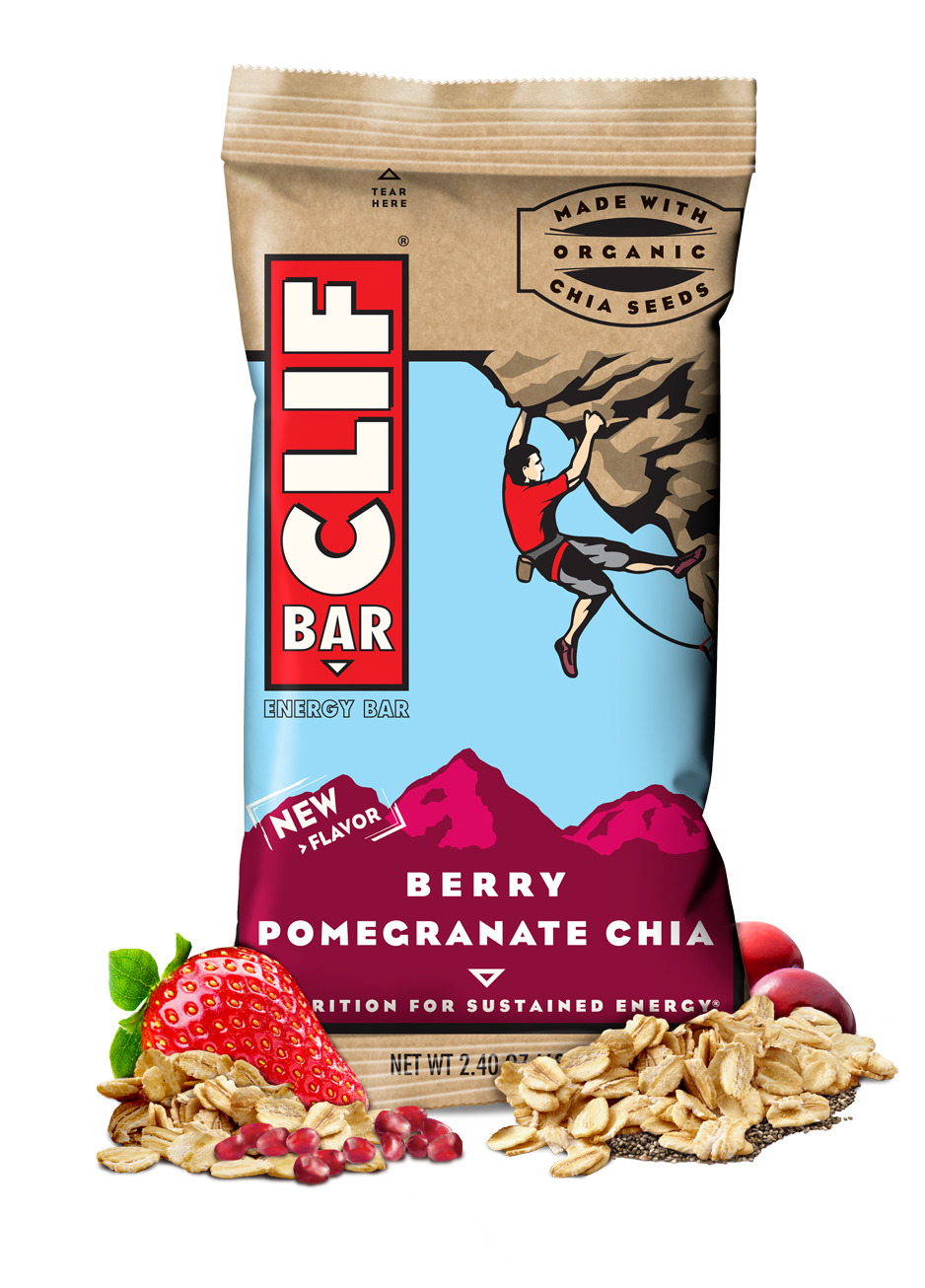 Energy Bars, CLIF® Berry Pomegranate Chia Energy Bar (2.4 oz Bag)