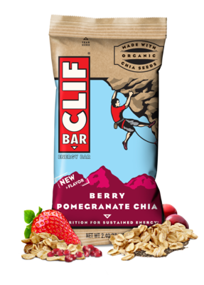 Energy Bars, CLIF® Berry Pomegranate Chia Energy Bar (2.4 oz Bag)