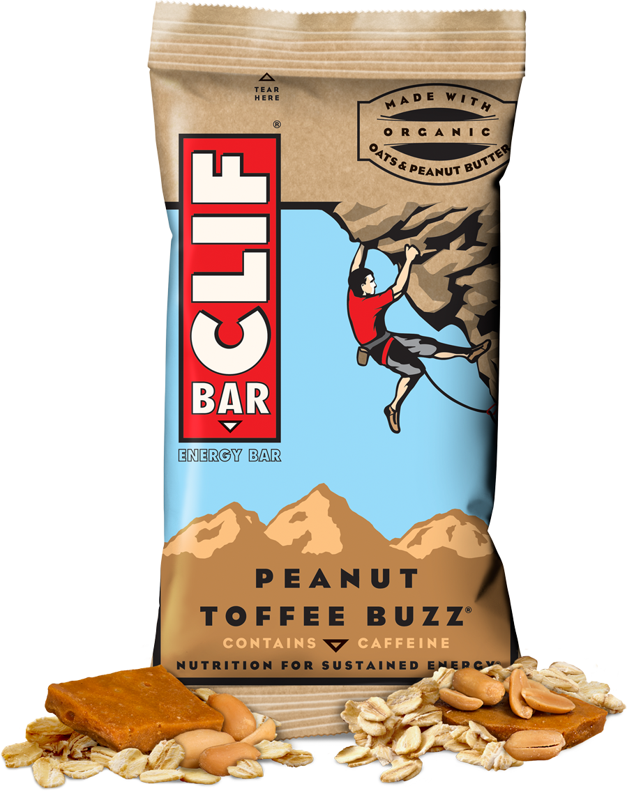 Energy Bars, CLIF® Peanut Toffee Buzz Energy Bar (2.4 oz Bag)