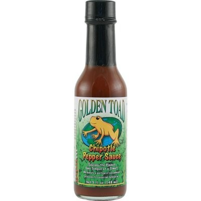Hot Sauce, Golden Toad® Chipotle Pepper Hot Sauce, 5 oz Bottle