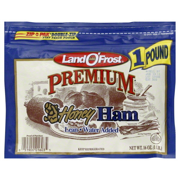 Ham, Land O'Frost® Premium Lean Honey Ham (16 oz Bag)