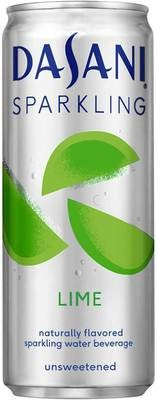 Sparkling Water, Dasani® Sparkling Lime Flavored Water (Single 12 oz Can)