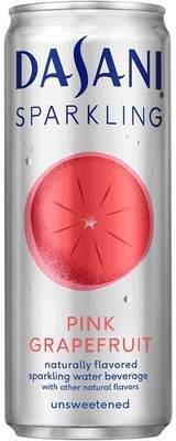 Sparkling Water, Dasani® Sparkling Pink Grapefruit Flavored Water (Single 12 oz Can)