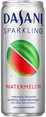 Sparkling Water, Dasani® Sparkling Watermelon Flavored Water (Single 12 oz Can)