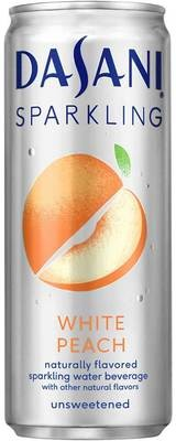 Sparkling Water, Dasani® Sparkling White Peach Flavored Water (Single 12 oz Can)