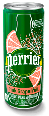 Sparkling Water, Perrier® Sparkling Water with Pink Grapefruit Flavor (Single 8.45 oz Can)