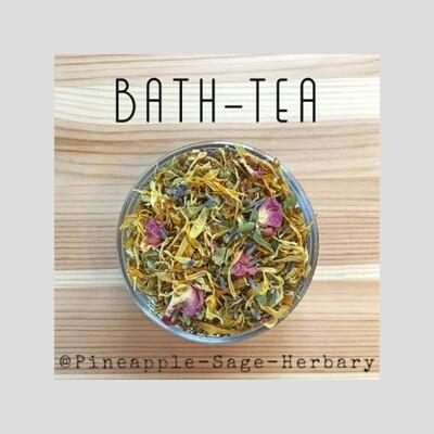 Floral Bath Tea 100g + Linen 'Tea' Bag