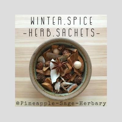 2 x Herbal Sachets : Winter Spice