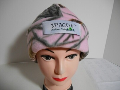 Pink Tree Winter Hat with Face Cover