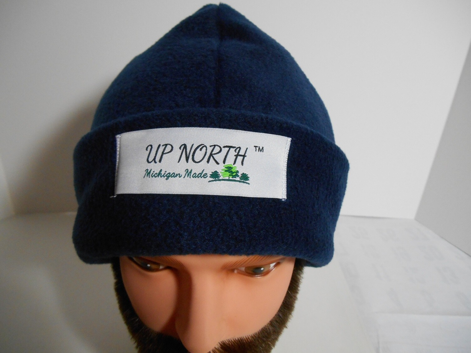 Navy Blue Winter Hat with Face Cover