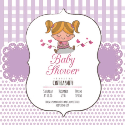 Digital file Shower Invitation Baby Arrival Announcement