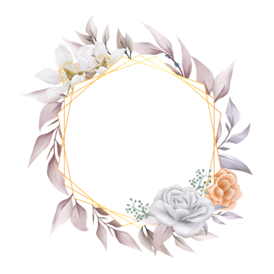 Elegant Floral Frame For Composition
