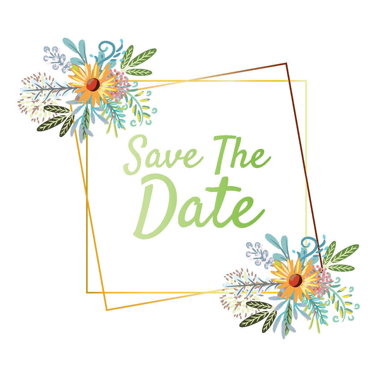 Digital file pretty wedding invitation with floral