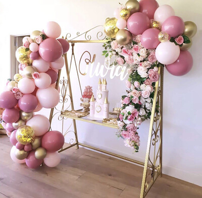 Pink and Gold Balloon Garland Set Pink Gold Balloons Birthday Party Wedding Party Balloons Decorations Baby Shower Decoration Party Supplies