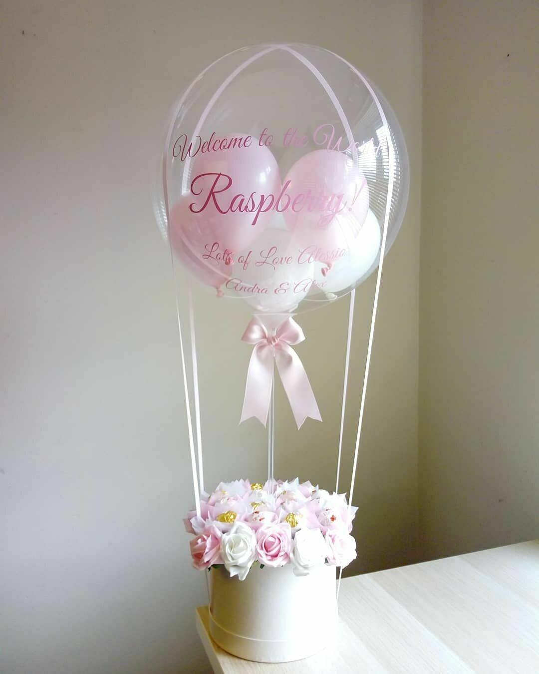 Hot Air Balloon and Flower Bouquet