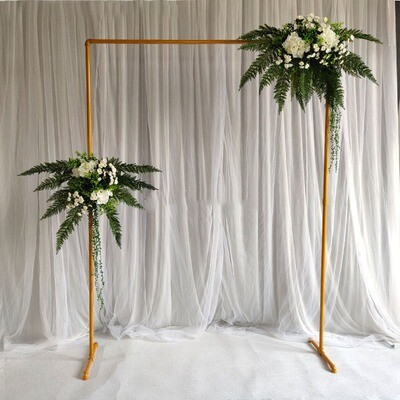 wedding props wedding stage background frame wrought Iron decorative flower stand birthday party wedding square arch shelf