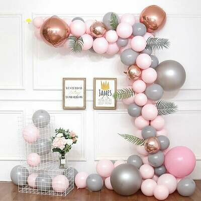 Gray Balloon Garland Kit, Balloon Arch Kit, Party Decor, Birthday Baby Shower Wedding Decoration, Bachelorette Party, Party Supplies