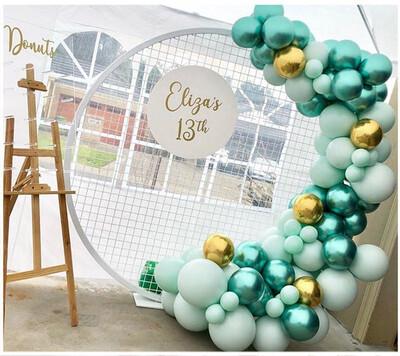 120pcs Chrome Green Balloons Garland Kit Macaron Blue Pastel Balloon Arch 4D Gold Ballon For Wedding Birthday Party Decorations