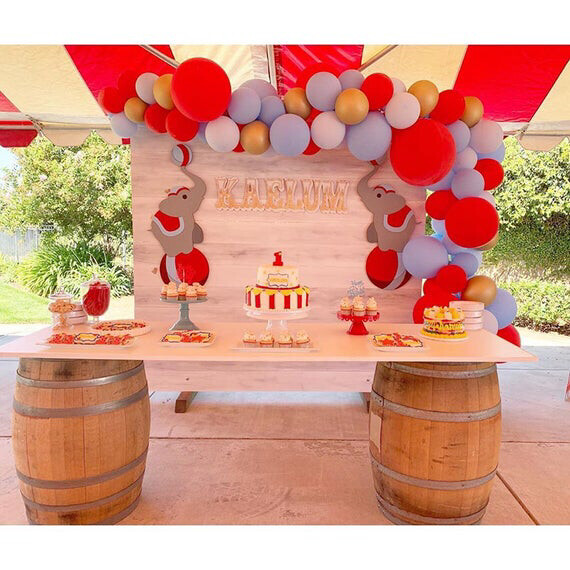 83pcs Pastel Latex Balloons Red Blue White Balloon Garland Arch Kit Gold Ballon For Wedding Birthday Baby Shower Party Decor