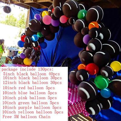130pcs/set Red Black Balloon Arch Kit Boy Party Balloon Garland Set Wedding Party Balloons Baby Shower Supplies Backdrop Decor