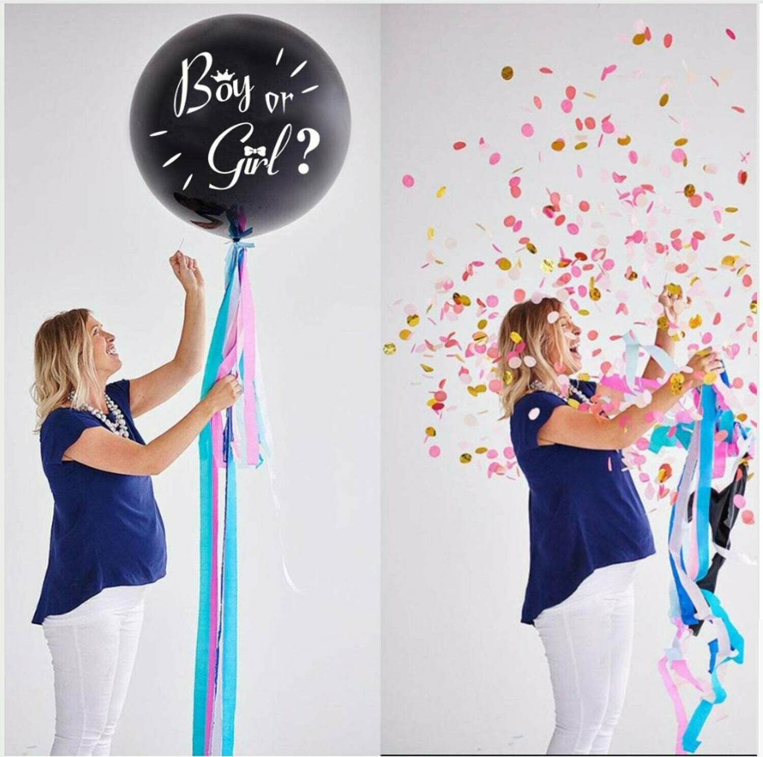 """Gender Reveal Balloon Gender Confetti Balloon 