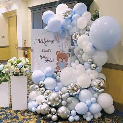 160 pcs DIY Latex Balloons Garland blue Cute Pastel Color Mixed  1th Baby Birthday Wedding Party Decorations Supplies