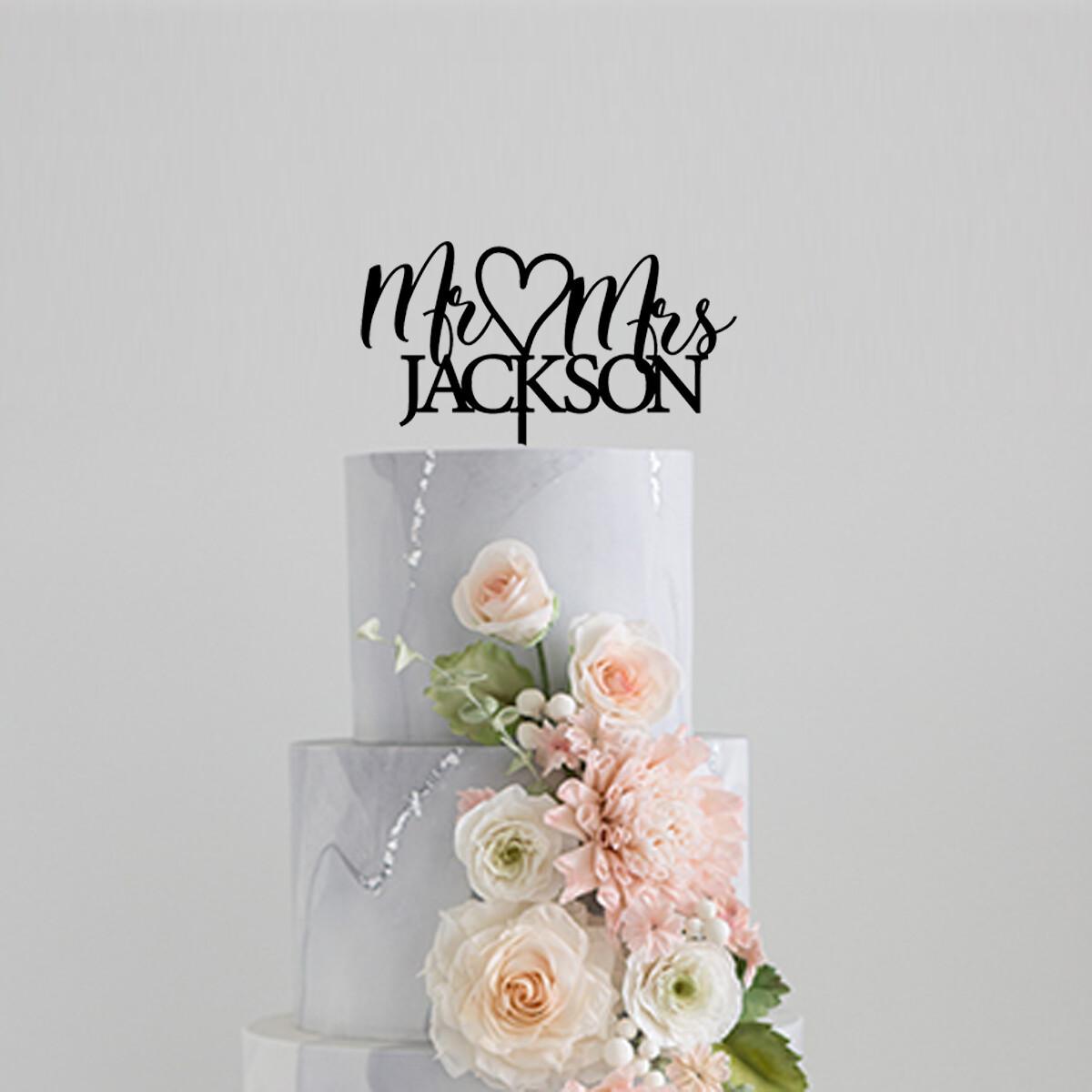 Mr & Mrs Family name Cake Topper Cake Topper