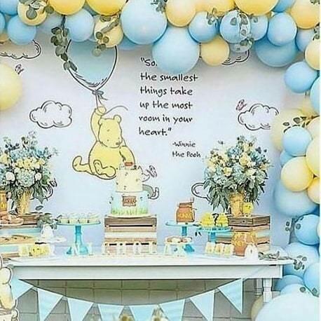 Winnie Pooh Custom Backdrop
