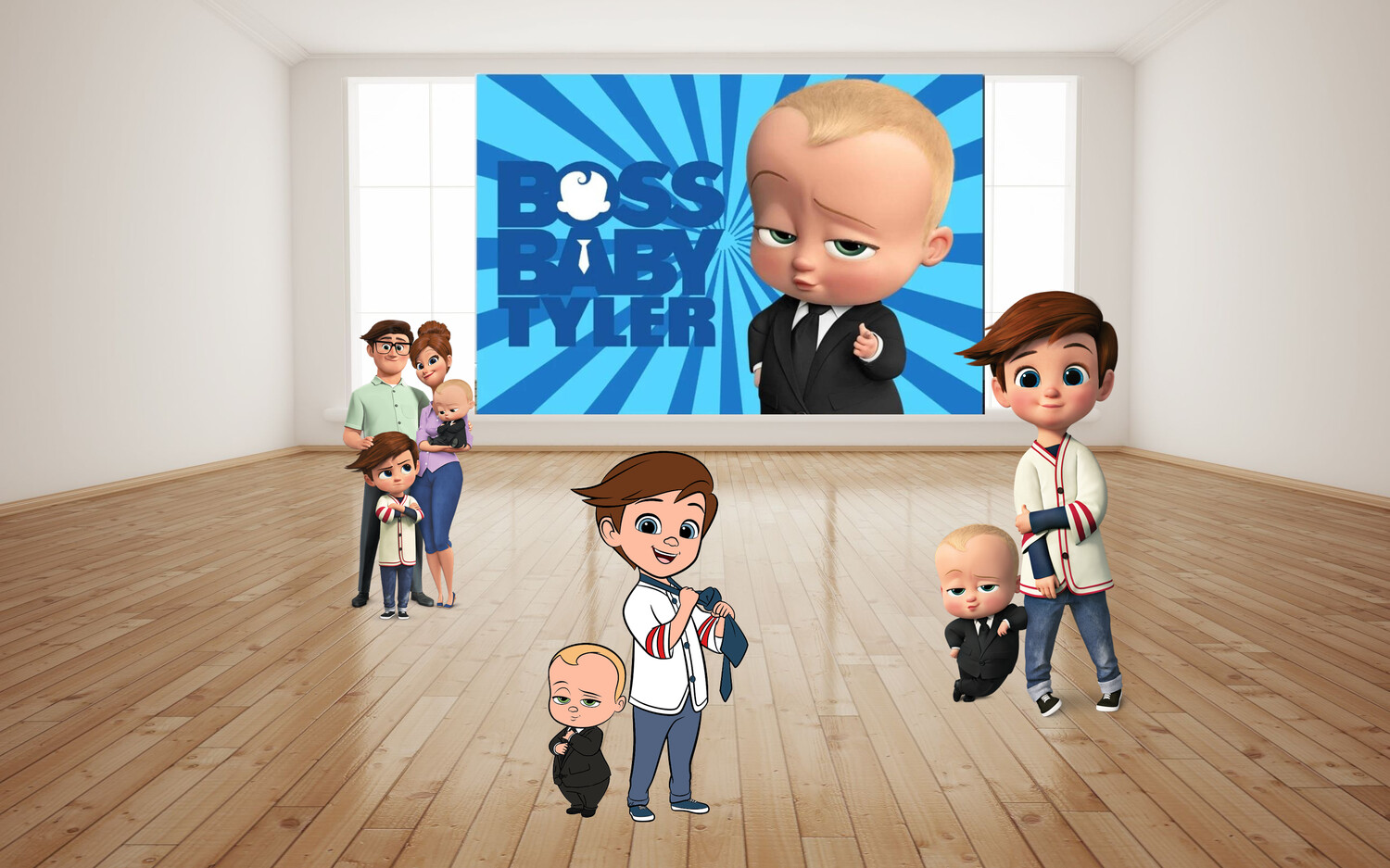 The Baby Boss Birthday Backdrop, The Baby Boss Backdrop, The Baby Boss Wall Art, The Baby Boss Wall Decoration