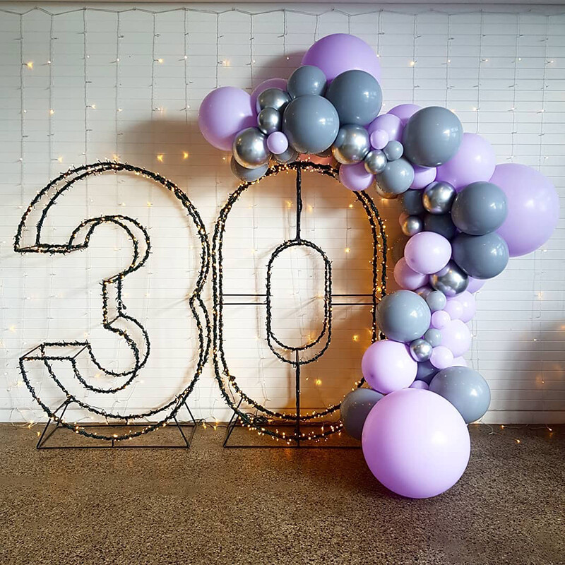 109pcs DIY Chrome Silver Balloons Garland Arch Kit Purple Grey Latex Balloon For Wedding Birthday Baby Shower Party Decorations