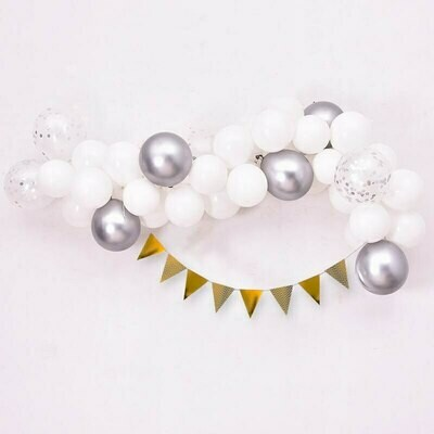 59pcs/set Chrome Metallic Gold Balloon Arch Kit Latex Balloon Wedding Party Garland Balloons Baby Shower Supplies Backdrop Decor