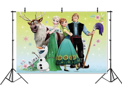 Frozen Elsa Anna moose princess kids children Photography studio Backgrounds professional indoor Photo Backdrops