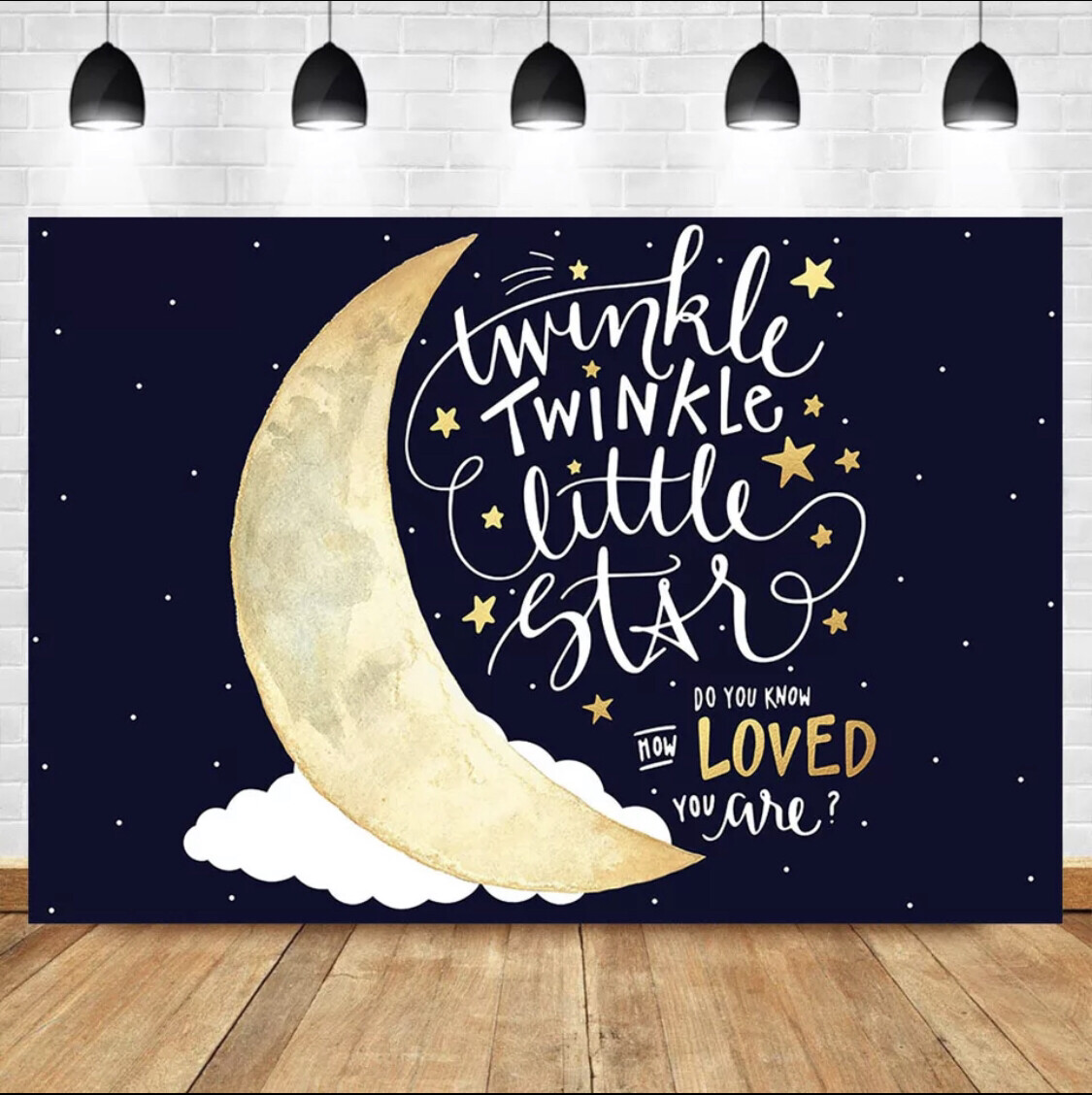 NeoBack Moon Night Sky Twinkle Little Star Photography Backdrops Birthday Party Baby Shower Background Banner Decor Backdrops