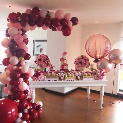 Baby Pink Gold Confetti,  Burgundy Gold ballon anniversaire Wedding Decorations