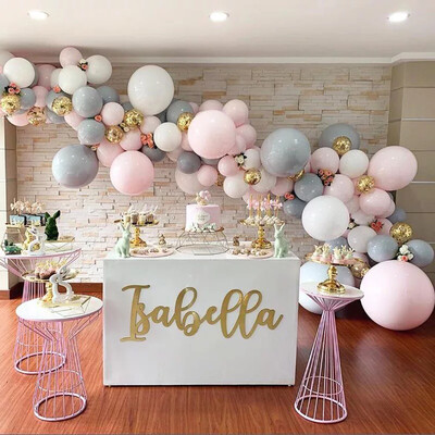 Grey Balloons Round Latex ballons Arch Baby Shower Wall Backdrop Decoration