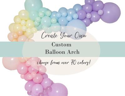 DIY Custom Balloon Garland Arch : Choose from 70 colors   Baby Showers, Birthdays, Weddings