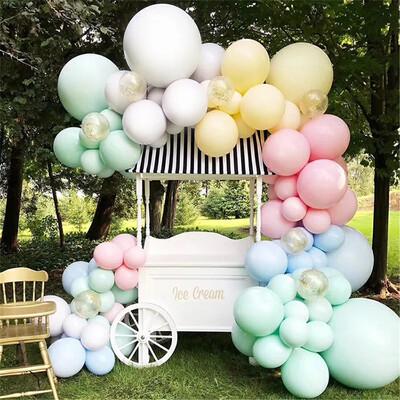 155pcs Macaroon Balloon Garland Arch Kit White Yellow Blue Pink Latex Balloons Birthday Bridal Baby Shower Wedding Party Decor