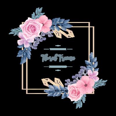 Wedding Vintage Watercolor Floral Flower Frame Background
